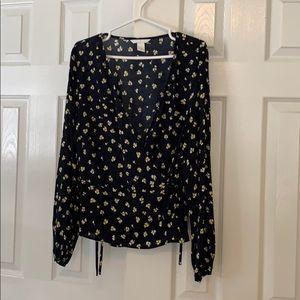 Long sleeve light weight blouse